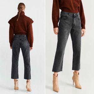 Mango Sayana Organic Cotton Jeans Black Size 8